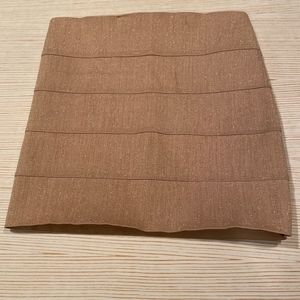 Bandage Mini Skirt in Gold Metallic Sz M